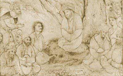Dervishes sitting beneath a tree